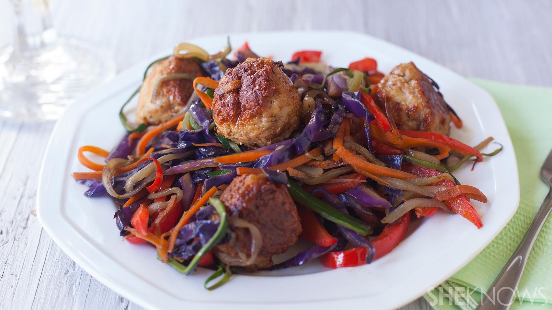 chinese-turkey-meatballs-with-vegetables-stir-fry-recipe