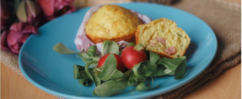 Muffin šunka forking ravlic web